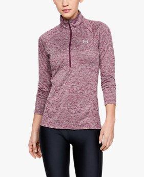 Camiseta con cremallera corta UA Tech™ difuminada para mujer