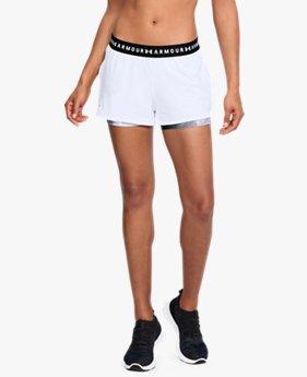 ba51c6a2005 Shorts 2 em 1 HeatGear® Armour Printed Feminino