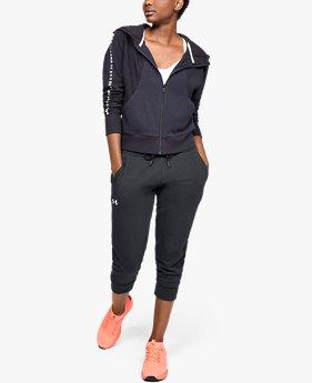 Pantalón crop de polar ajustado en la pierna UA para Mujer