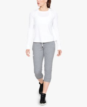 Calça Crop UA Slim Leg Fleece Feminina