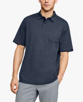 Playera Polo Charged Cotton® Scramble para Hombre