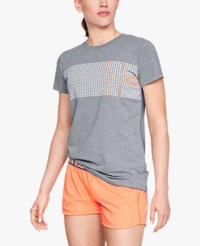 【アウトレット】UAグラフィッククラシッククルーチェストロゴ(ライフスタイル/Tシャツ/WOMEN)