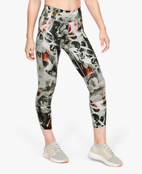 Calça Cropped UA Estampada Speedpocket Run Feminina
