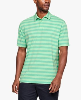 Playera Polo Charged Cotton® Scramble Stripe para Hombre