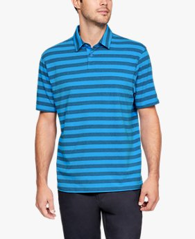 Polera Polo UA Charged Cotton® Scramble Stripe para Hombre
