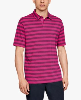 Playera Polo UA Charged Cotton® Scramble Stripe para Hombre