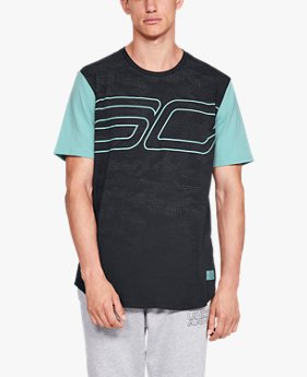 Camiseta de Basquete Manga Curta Masculina Under Armour SC30 Big Logo