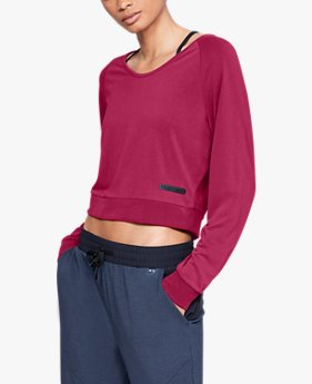 Women's UA Unstoppable Crop Long Sleeve V-neck