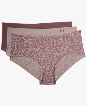 Women's UA Pure Stretch Hipster Underwear Print 3-Pack
