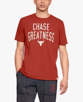Camiseta de Manga Curta UA x Project Rock Chase Greatness Masculina