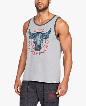 Camiseta Regata UA x Project Rock 96 World Champion Masculina
