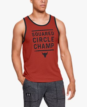 Camiseta Regata UA x Project Rock Squared Circle Champ Masculina