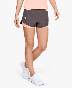 Shorts de Corrida Feminino Under Armour Qualifier Speedpocket 2 em 1
