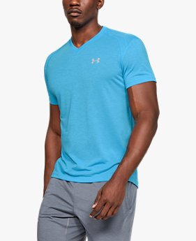 Men's UA Streaker V-Neck Short Sleeve