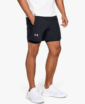Herren UA Qualifier 2-in-1-Shorts mit Speedpocket