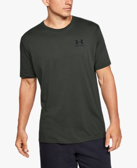 Herenshirt UA Sportstyle Left Chest met korte mouwen