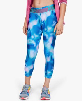 Leggings HeatGear® Armour Printed Ankle Crop para Niña