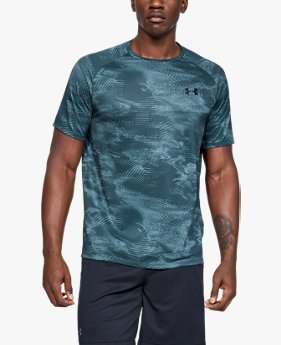 Men's UA Tech™ 2.0 Printed Short-Sleeve