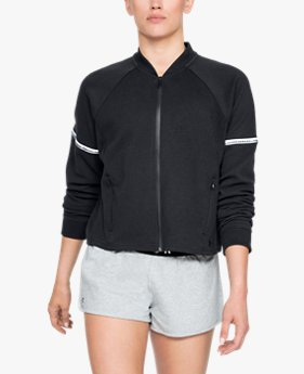 여성 UA 언스타퍼블 더블 니트 보머 재킷