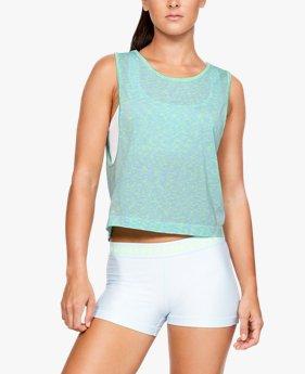 c5e5de75a42a6 Camiseta sin mangas UA Vanish Seamless Spacedye Muscle para mujer