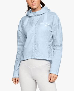 여성 UA 하이브리드 우븐 재킷
