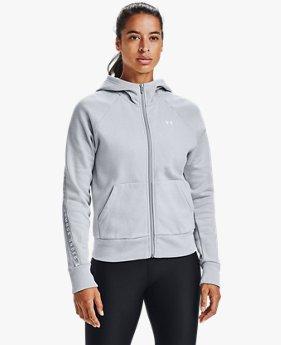 Sudadera UA Taped Fleece Full Zip para Mujer