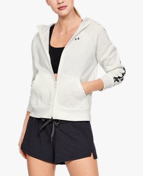 Veste en polaire UA Taped Fleece Full Zip pour femme