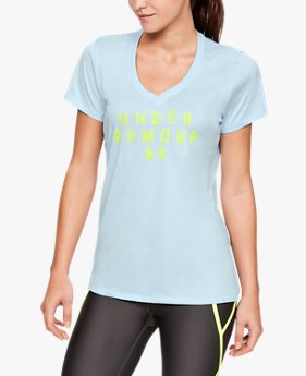 Women's UA Tech™ Short Sleeve V-Neck Graphic