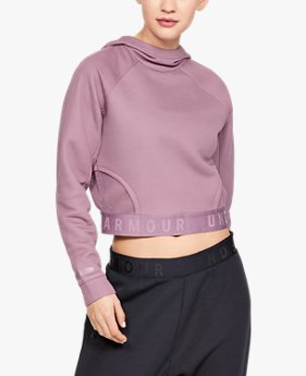 Damen UA Unstoppable Move Light Crop-Hoodie