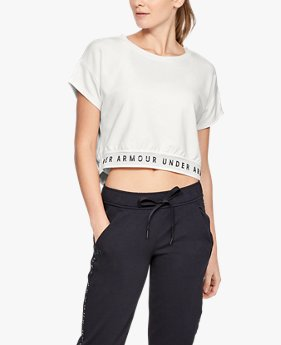 Camiseta Featherweight Fleece Crop Top Feminina