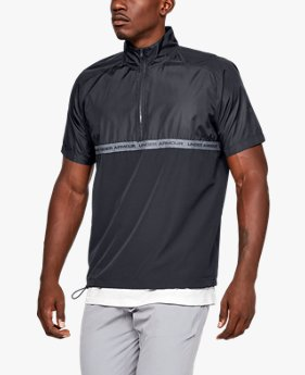 Men's UA Unstoppable Woven ½ Zip Short Sleeve