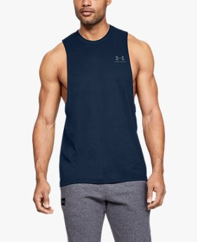 Men's UA Sportstyle Left Chest Cut-Off T-Shirt