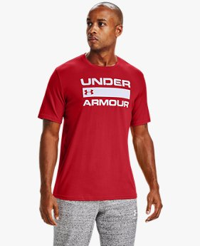 Herren UA Team Issue Wordmark Kurzarm-Oberteil
