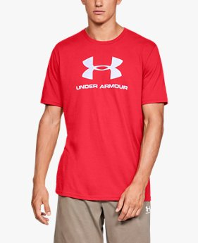 UAスポーツスタイル ロゴ ショートスリーブ(トレーニング/Tシャツ/MEN)