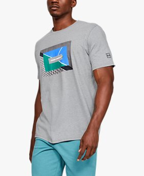 Men's UA Tennis Photoreal Split Hem Short Sleeve T-Shirt