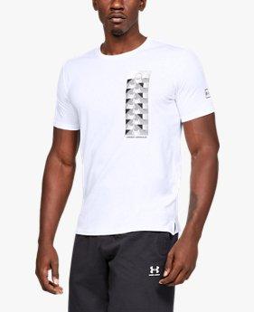 남성 UA 배스킷볼 포토리얼 스플리트 헴 반팔