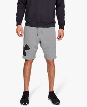 Herren UA Rival Fleece Logo Shorts