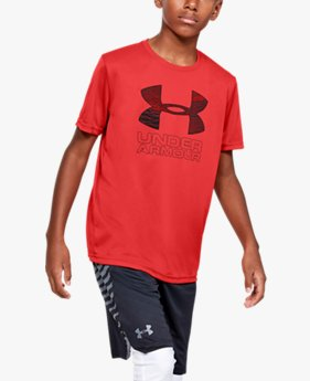 Boys' UA Print Fill Logo T-Shirt