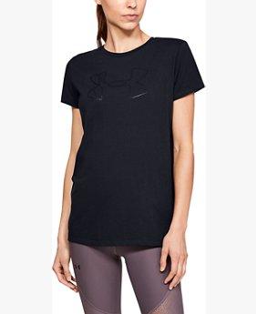 Camiseta UA Graphic Big Logo Classic Crew para mujer