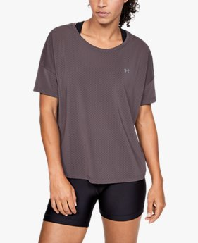 Women's UA Armour Sport Eyelet Flowy Short Sleeve