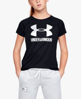T-shirt UA Big Logo Solid pour fille