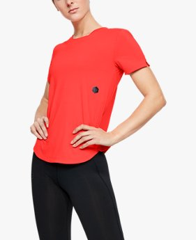 Women's UA RUSH™ Run HeatGear® Short Sleeve