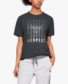 여성 UA x 프로젝트 락 리스펙트 그래픽 걸프렌드 크루 셔츠