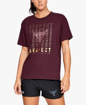 Women's Project Rock Respect Graphic Girlfriend Crew Shirt