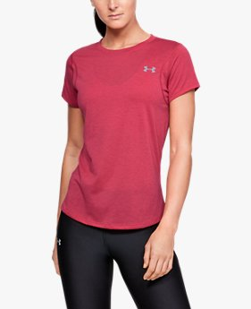 Kaus Lengan Pendek UA Streaker untuk Wanita