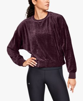 Women's UA Be Seen Velour Boyfriend Crew