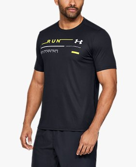 Herren UA Run T-Shirt mit Grafik