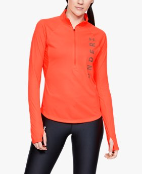 Maglia UA Speed Stride Wordmark ½ Zip da donna