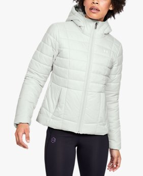 Damen UA Armour Thermojacke mit Kapuze