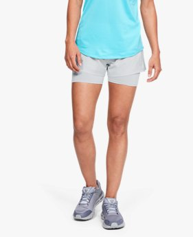 Damen UA Qualifier 2-in-1-Shorts mit Speedpocket